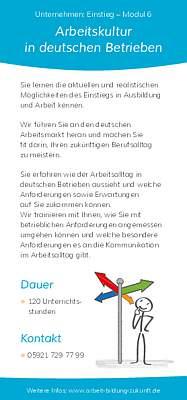 Flyer Unternehmen:Einstieg - Modul 6